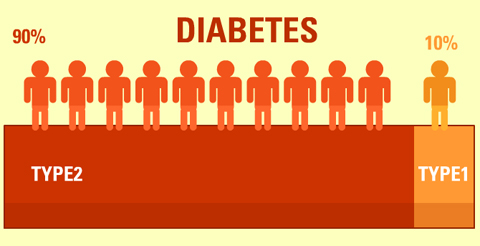 what is the difference between type 1 and type 2 diabetes, Skeleton
