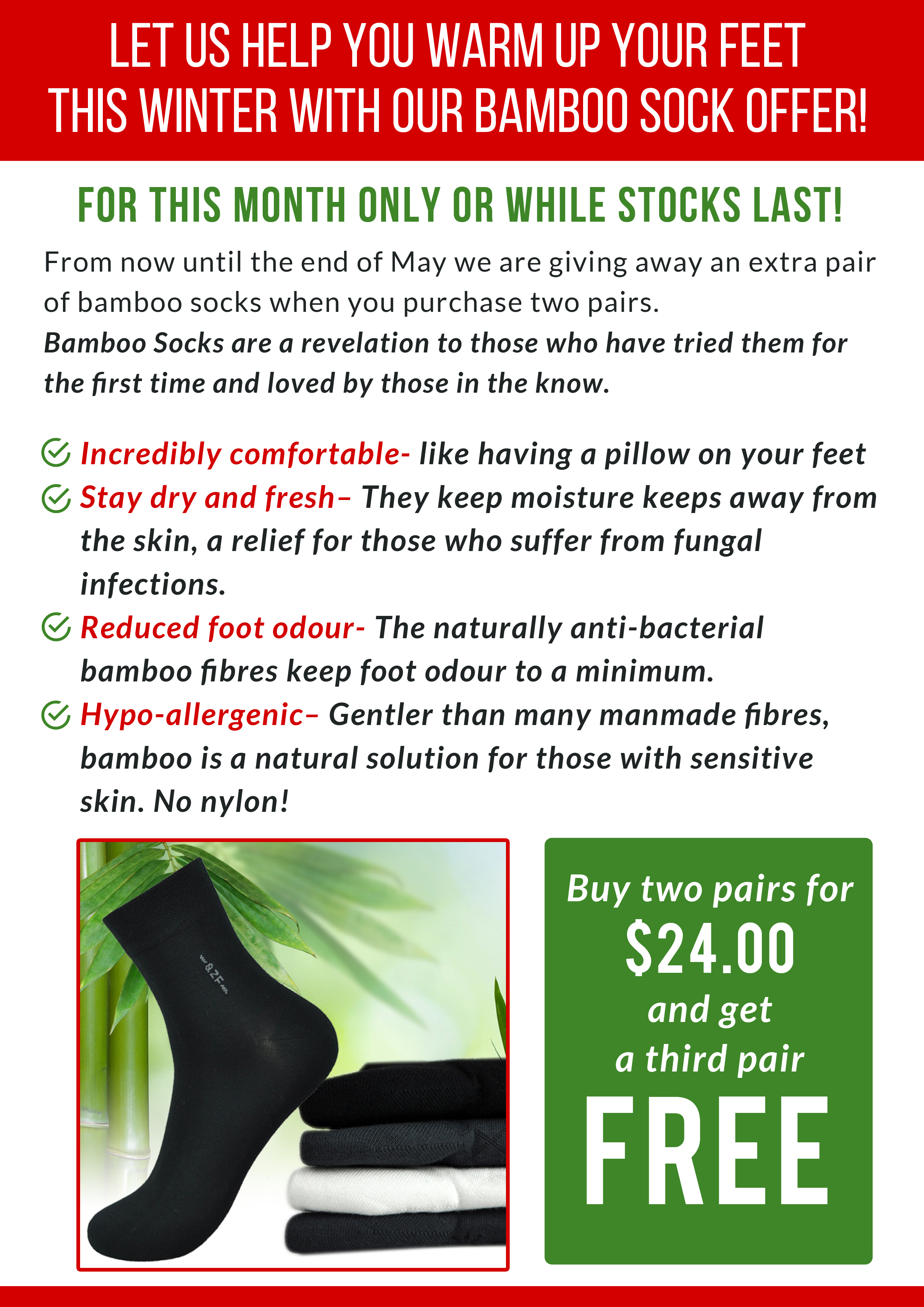 54646ef2ad7aa Why Are Bamboo Socks Good For You  - Sutherland Podiatry Sutherland ...
